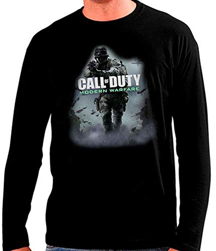Mx Games Camiseta Call of Duty Modern Warfare 2019 Manga Larga Talla L Unisex Ancho/Largo [56cm/74cm] Aprox