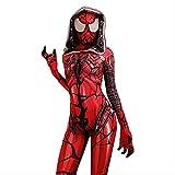 nihiug Veneno de araña Traje de Las Mujeres de Cosplay, Capa roja Spiderman Juegos de rol Bodysuit Buzos, Vestimenta Disfraz de Halloween,Red- Height (170~175cm)