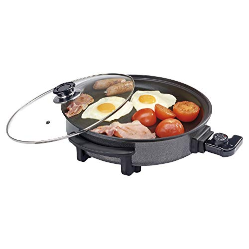 Cooks Professional Multi Cooker, Electric Frying Pan with Glass Lid, Non Stick...