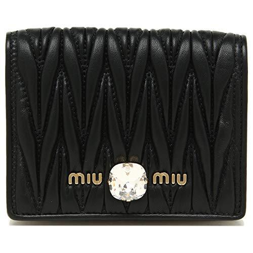 [ミュウミュウ]折財布レディースMIUMIU5MV2042D3YF0002ブラック[並行輸入品]