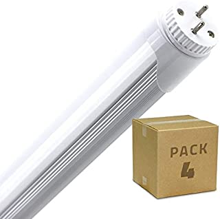 Pack Tubo LED T8 1200mm Conexión un Lateral 18W (4 un) Blanco Neutro 4000K-4500K