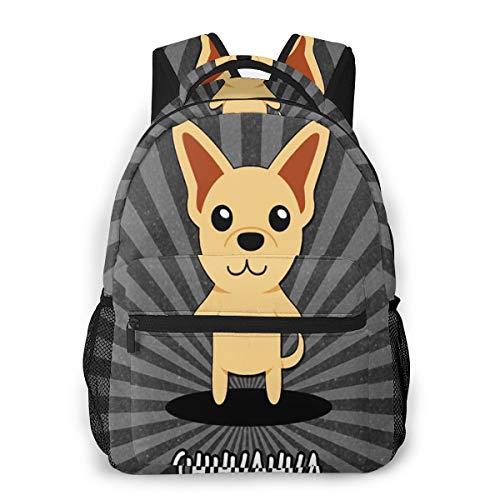 Rucksack Männer Und Damen, Laptop Rucksäcke für 14 Zoll Notebook, Chihuahua Mexiko Mexikanisch Kinderrucksack Schulrucksack Daypack für Herren Frauen