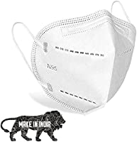 DALUCI Cotton Reusable 5 Layered N95 Face Mask (White, Without Valve, Pack of 10) for Men and Women