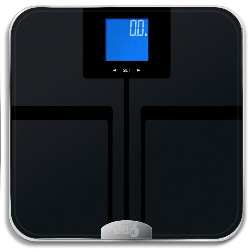 EatSmart Products Digital Body Fat Scale with Auto Recognition Technology, One Size, Black