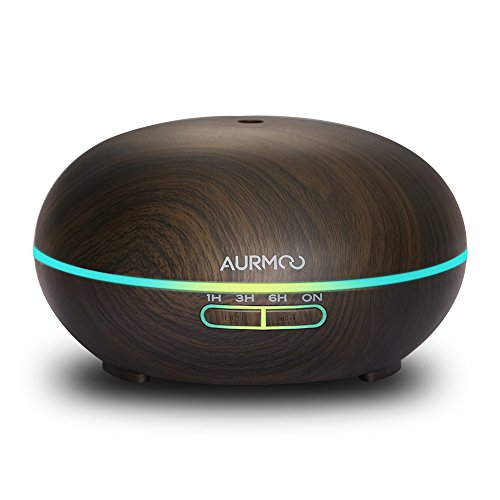 Diffusore di Aromi ad Ultrasuoni,400ml Umidificatore Diffusore di Oli Essenziali Umidificatore Diffusore di Essenze con 14 LED Colorati Timer per Auto Spegnimento per Casa Ufficio Yoga Spa