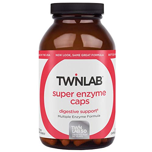 Twinlab Super Enzyme Caps | 200 Capsules| Maximum Strength Dietary Supplement for Ddigestion and Energy Production
