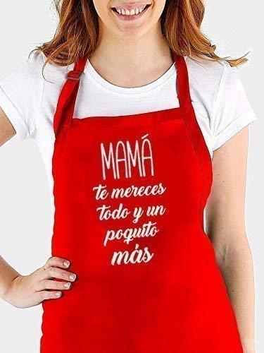 Delantal cocina personalizado para MAMA con frase