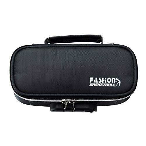 Stationery Storage Box Large Capacity Pencil Case 21.5 * 9.5 * 6.5 Student Pencil Case for Boys and Girls Dark gray