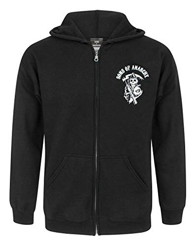 Official Sons Of Anarchy SAMCRO Men's Zip Up Hoodie (L)