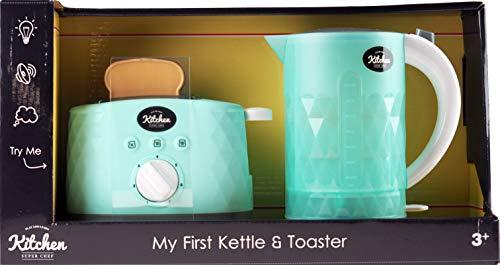 infunbebe My First Kettle and Pop Up Toaster mit Licht und Sound Spielzeug