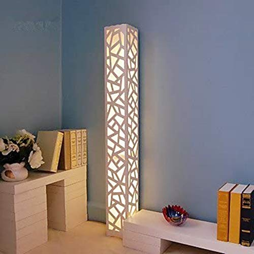 ELINKUME LED Floor Lamp Warm White Stereo Style Hollow Carving Floor Lamp PVC Wood Plastic Plate Materials Pedal Switch Ideal Decor for Home, Living Room, Bedroom AC220V