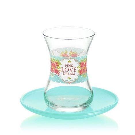 Lav Dream - Juego de 12 vasos de té turco y árabe
