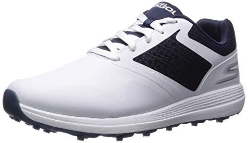 Skechers Men's Max Golf Shoe, White/Navy, 11 W US