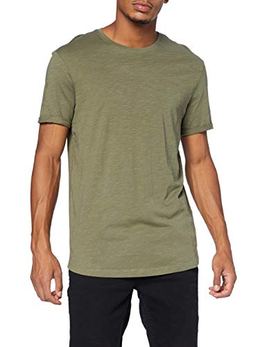 edc by ESPRIT Herren 990CC2K302 Standard T-Shirt, 350/KHAKI Green, M