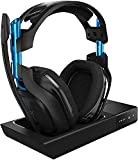 astro Gaming A50 Wireless Dolby Gaming Headset - Black/Blue - PlayStation 4 + PlayStation 5 + PC (Gen 3) (Renewed)