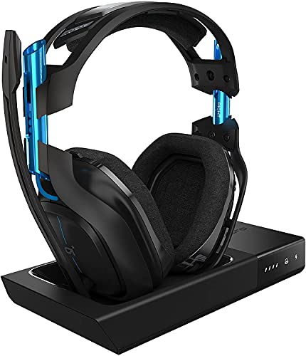 (Renewed) astro Gaming A50 Wireless Dolby Gaming Headset - Black/Blue - PlayStation 4 + PlayStation 5 + PC (Gen 3)