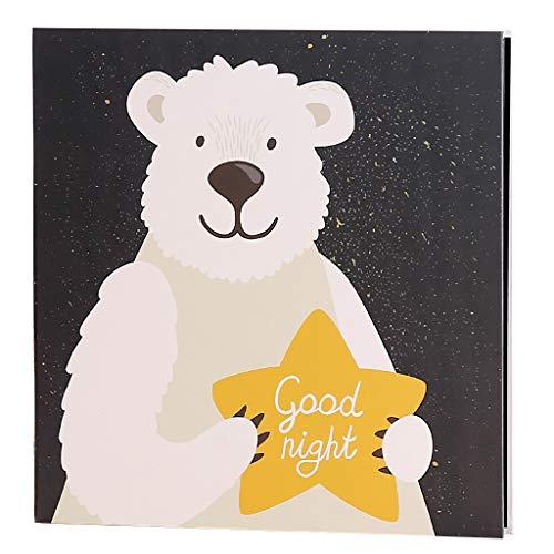Bricolage adhésif Film Album Photo créatif Blanc Page intérieure Album Famille bébé Record de Croissance Livre 35X35X5cm