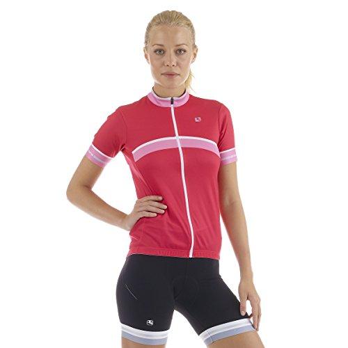 Giordana Silverline Giro Damen Trikot, kurzärmelig, Pink (M)