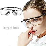 Gafas Protectoras, Lentes de Seguridad Antivaho Prueba de Rayos UV Prueba de Impacto Arena a Prueba de Viento para Laboratorio Agricultura Industria