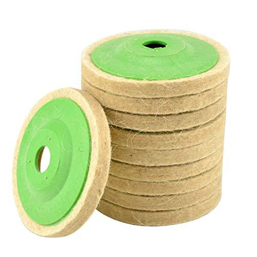 10pcs Polishing Wheel Buffing Pads 100mm 4 Inch Buffing Angle Grinder Wheel Felt Polishing Disc Pad Kit