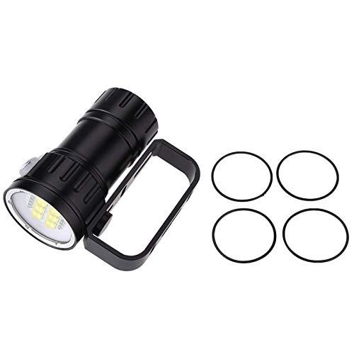 Linterna LED subacuática Kit de Linterna de Buceo 4.80 X 2.56 X 2.17 Pulgadas Linterna de Buceo Luz de antorcha para Caminar Luz Cueva de mar Profundo Deportes acuáticos al Aire Libre