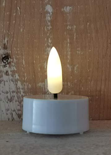 4 LED Teelicht Timer inkl. Batterie 3D Flamme wie echt elektrische Kerze flammenlos Teelichter