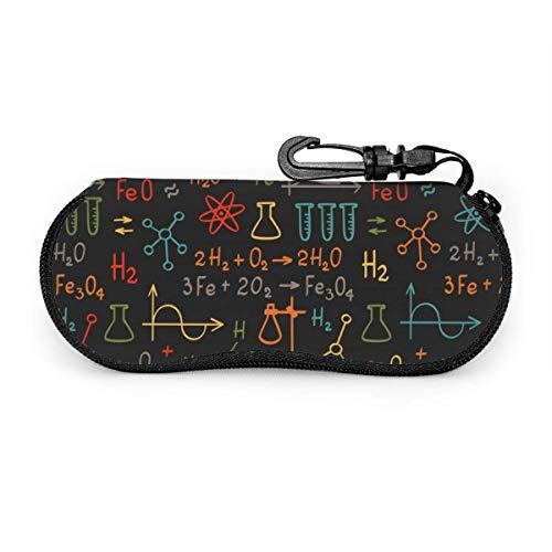Bran-don Channel Chemistry Gafas de sol Estuche blando Estuche ultraligero para gafas con cremallera de neopreno con clip para cinturón