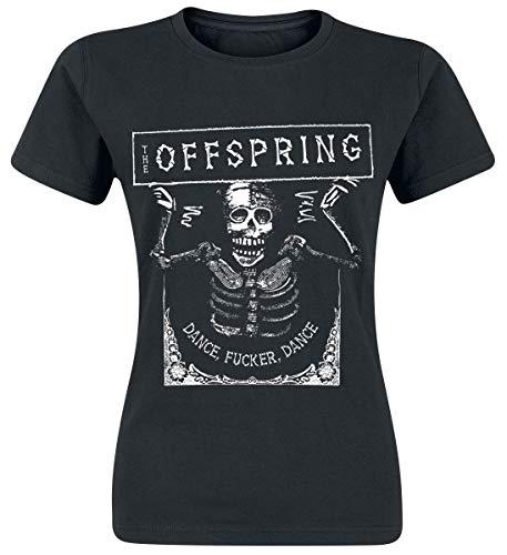 The Offspring Dance Fucker Mujer Camiseta Negro L, 100% algodón, Regular