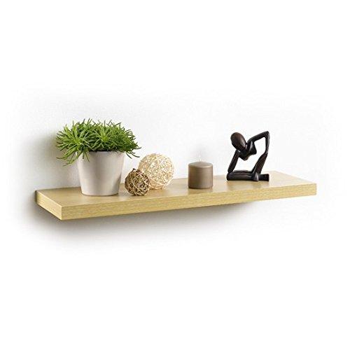 Modul'Home 6RAN792CC - Estantería para colgar (tablero DM, 75 x 22,8 x 3,4 cm), tablero/madera DM, color roble claro, 75 x 22,8 x 3,4 cm