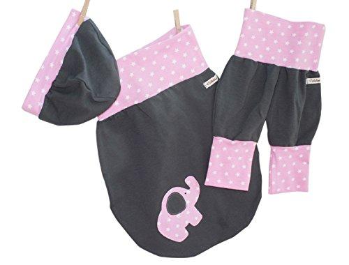 Annsfashion - Ensemble - Bébé (fille) 0 à 24 mois Gris Gris - Gris - 0-6 mois