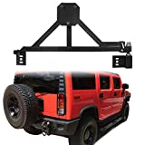 ECOTRIC Tire Carrier Mount w/Drop Down Option Compatiblewith All Hummer H2, Black, Heavy Duty