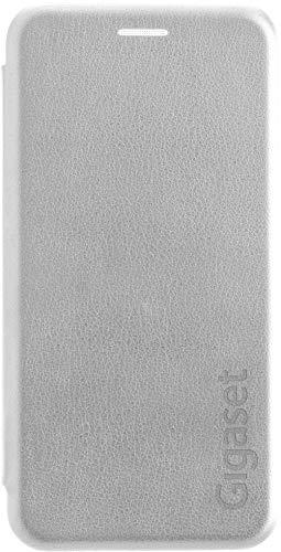 Gigaset Book Hülle (R&um Schutz vermeidet Schäden, anti-scratch, Full Body Schutzhülle, mit 360°, Zubehör geeignet für GS180 Smartphone) silber-grau