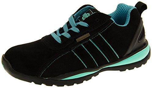 Northwest Territory - Zapatos de Seguridad para Mujer (Punta de Acero, Talla 38), Color Negro y Azul
