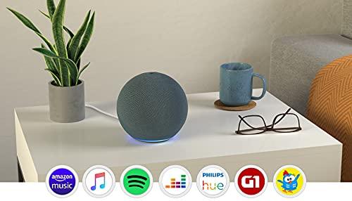 Echo (4ª Geração): Com som premium, hub de casa inteligente e Alexa - Cor Azul