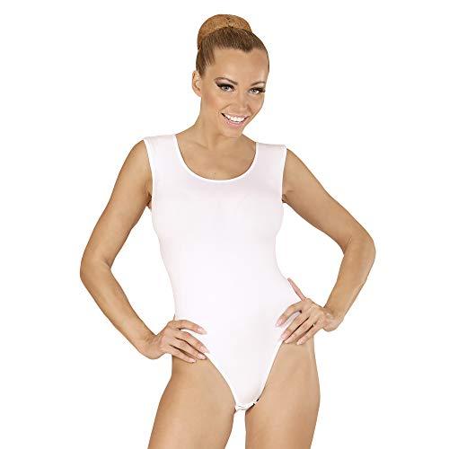 fancy jurk kostuum Womens Dames Wit Mouwloos Leotard Ballerina Outfit M/L