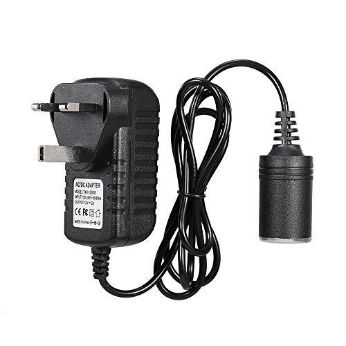 Entweg Ac/Dc Adapter,Car Power Inverter, AC to DC Converter, 240V-12V DC Car Converter Cigarette Lighter Socket Voltage Converter Power Adapter, for Car Vacuum and Other 12V Devices, UK Plug