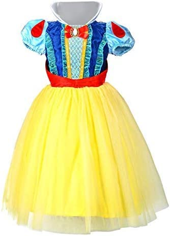 LOEL Snow White Princess Dress Up Coustume Party Girl Dress