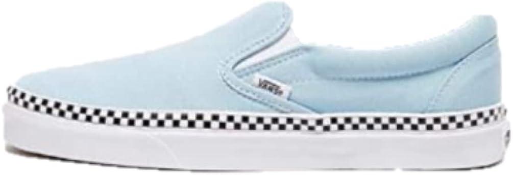 Amazon.com | Vans U Classic Slip-ON (Check Foxing) Cool Blue/White ...