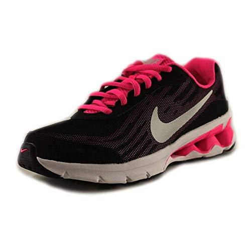 Nike Girl's Reax Run 9 Running Shoes (6) Black/Hyper Pink