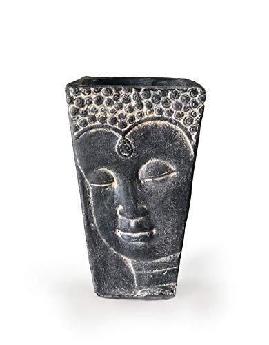 aalami Buddha Face Topf Keramik 26cm, Handgemachter Terrakotta Pflanzgefäß für Blumen & Pflanze für Garten und Wohn Dekoration Geschenk zum Geburtstag Hochzeit Weihnachten