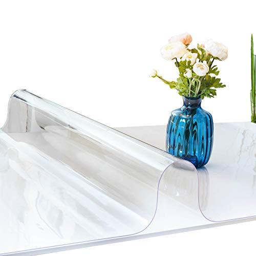 ANRO Tovaglia trasparente lavabile, 2 mm, in morbido PVC, 100 x 180 cm, diverse misure (1000)