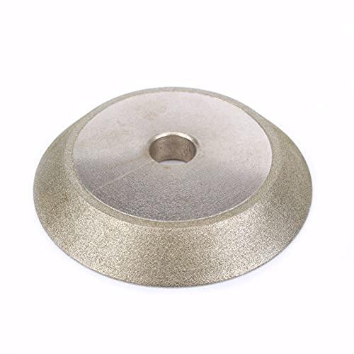 YYDMBH Discos de Corte 78x12.7x10mm Rueda de molienda recubierta de 45 Grados Diamante Diamante Afilado Cutter Grinder Herramienta abrasiva