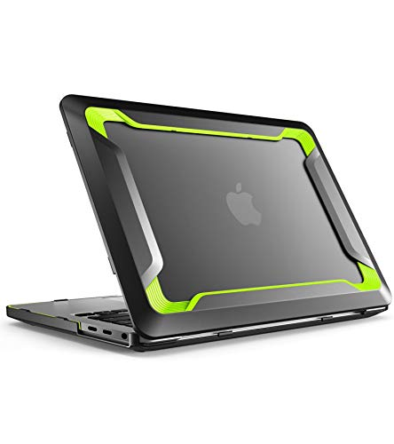 i-Blason Custodia MacBook PRO 13', Cover Rigida [Doppio Strato] TPU Bumper [Antigraffi] Rugged Case per MacBook PRO 13' 2019 2018 2017 2016 con o Senza Touch Bar/Touch ID, Verde