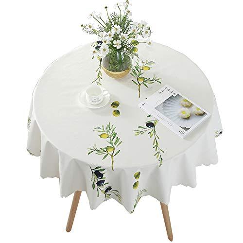 Nappe en plastique imprimée PVC, nappe ronde de table basse (Couleur : Blueberry fruit, taille : 130cm)