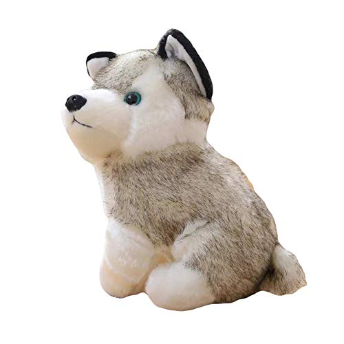 Fulinmen Plush Toy,Cute Simulation Husky Dog Plush Toy Puppy Stuffed Animal Kids Boys Girls Doll,Made of US Natural Cotton,Perfect Best Gift for Thanksgiving,Christmas,Valentine 18cm (Size : 18cm)