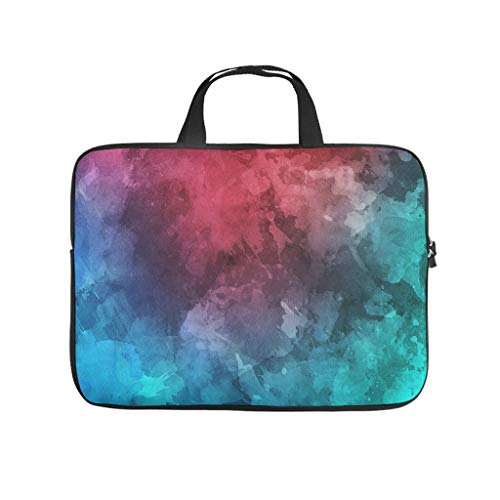Texture Pattern Colourful Abstract Laptop Bag Shockproof Protective Case for Laptops Colourful Notebook Bag for University Work Business