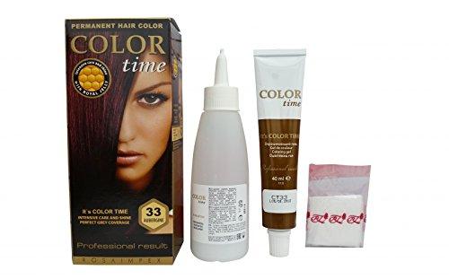 Pack économique de 2 colorants permanents pour cheveux de couleur aubergine 33