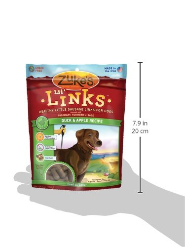 Zuke's Lil' Links Healthy Little Sausage Links for Dogs, Duck, 6 Ounce