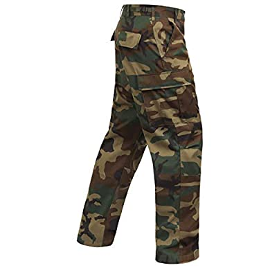 Rothco Camo Tactical BDU (Battle Dress Uniform) Military Cargo Pants, Woodland Camo, 2XL