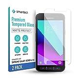 smartect Mattes Schutzglas kompatibel mit Samsung Galaxy Xcover 4s / 4 [2x MATT] - Tempered Glass mit 9H Festigkeit - Blasenfreie Schutzfolie - Anti-Kratzer Bildschirmschutzfolie